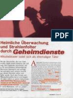 RuZ 2009 Nr161 S47 Heimliche Überwachung Und Strahlenfolter Durch Geheimdienste