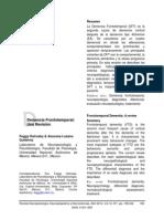 Demencia Frontotemporal. Una Revision