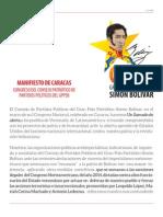 Manifiesto Caracas Congreso Consejo Patriótico Partidos Politicos Gppsb