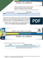 Actividad Diagnóstico de Cumplimiento de La Norma ISO 9001-2008