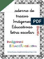 Cuaderno de Trazos Imágenes Educativas Letra Escolar
