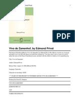 Vivo de Zamenhof, By Edmond Privat