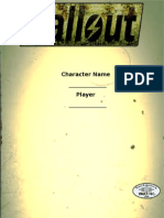 Fallout Tabletop RPG Sheet (Basic Role Play)