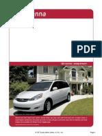 2006 Toyota Sienna Brochure