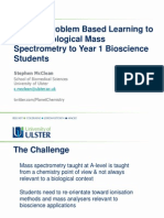 Context/Problem Based Learning to Deliver Biological Mass Spectrometry