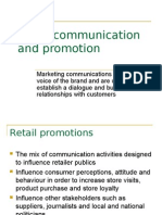 Retail Communication and Promotion