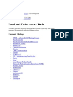 Load and Performance Tools
