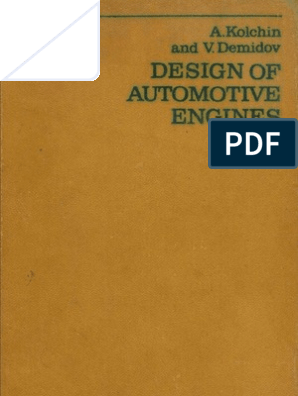 Design Of Automotive Engines Kolchin Demidov Combustion Internal Combustion Engine