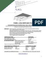 Losa Industrializada UnidireASccional Para Luces de Hasta 600 Cm
