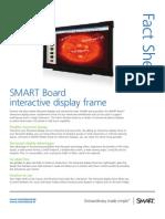 Factsheet SMART Board interactive display frame educatie ENG