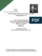 Actividad Diagnostica - Matematicas 3 - Etapa 1