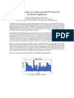 Feasibility Analysis of a Grid-connected PV System for Residential Application