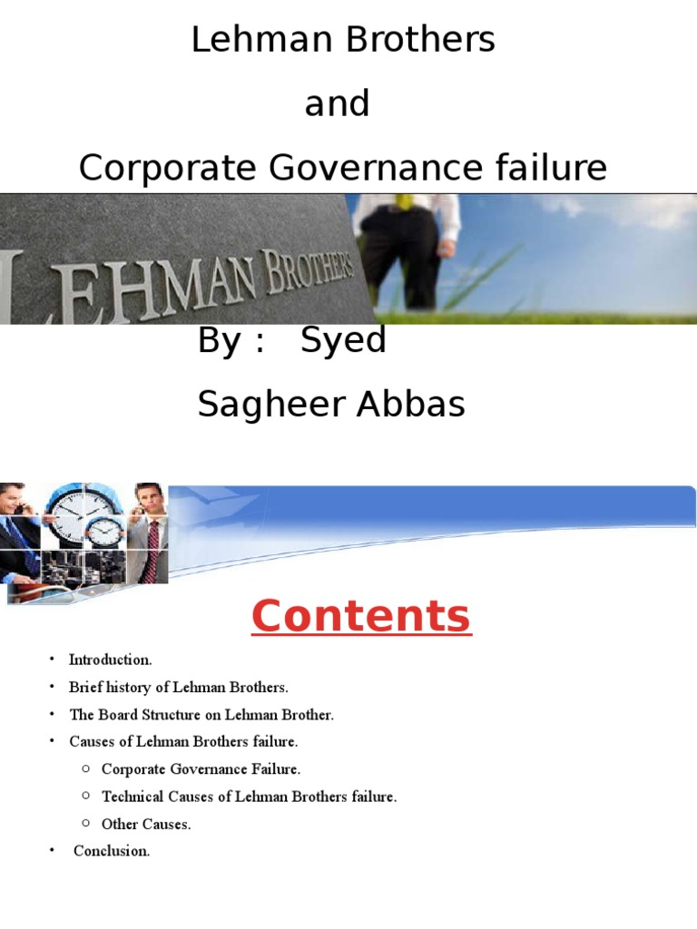lehman brothers corporate governance