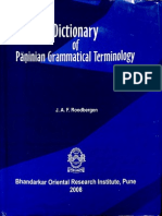 Dictionary of Paninian Grammatical Terminology - J.a.F. Roodbergen_Part1