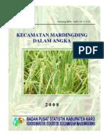 Kecamatan MARDINGDING Dalam Angka 2008