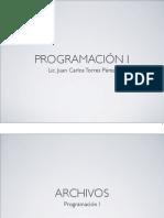 El uso de archivos en lenguaje  C