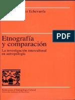 GONZÁLEZ Etnografía y Comparación La Investigación Interecultural en Antropología