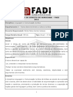 1º Ano - Plano de Ensino 2011 - Linguagem e Comunicação Jurídica