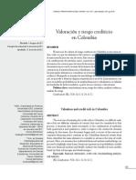 Valoracion y Riesgo Crediticio en ColombiaR