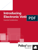 IDEA.introducing Electronic Voting Essential Considerations