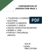 Continuation of Jurisdiction Page 1