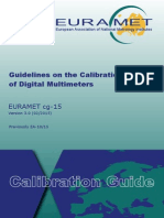 EURAMET Cg-15 v 3.0 Guidelines on the Calibration of Digital Multimeters
