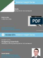 Budgeting Essentialsat GE