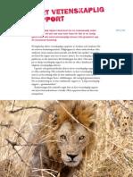 2vetenskaplig Rapport