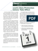 Massachusetts Data Protection Regs Advisory March 2010