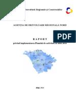 ADR Nord / Raport anual privind implementarea Planului de activitate / ianuarie-decembrie 2014