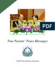 True Parents Peace Messages