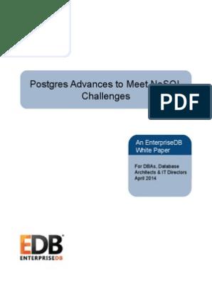 Whitepapers Postgres Advances to Meet NoSQL Challenges   No