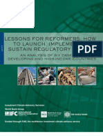 IFI Lessons for Reformers How to Launch Implement and Sustain Regulatory Reform