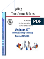 Investigating Transformer Failures