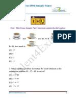 IMO Demo Sample Paper