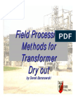 Field Processing Methods Fo Transformer Dry Out