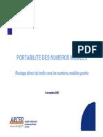 PORTABILITE DES NUMEROS MOBILES