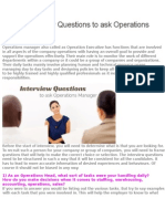 10 Best Interview Questions to Ask Operations Manager
