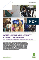 Women, Peace and Security: Keeping the promise. How to revitalize the agenda 15 years after UNSCR 1325