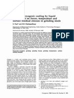 Effects of Cryogenic Cooling by Liquid Nitrogen Jet on Forces, Temperature and Surface Residual Stresses in Grinding Steels