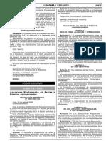 RM Nº 0650-2006-AG Relamento de Ferias y Eventos Agropecuarios