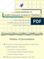 Payment Methods of TH Health Insurance System HISRO