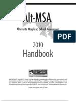 Alt-MSA 2010 Handbook