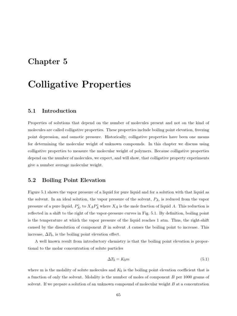 Colligative Properties | Quantity | Materials Science