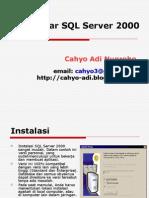 Dasar SQL 2000