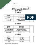 Calendário Pré Escolar 15_16