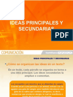 Ideas principales y secundarias