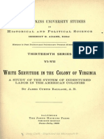 White Servitude in the Colony of Virginia