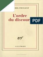 A ordem do discurso - versão francesa