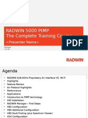 RADWIN 5000 PtMP Training Course | Wi Fi | Voice Over Ip